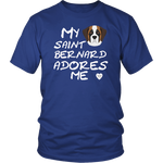 Saint Bernard Adores Me T-Shirt Royal Blue
