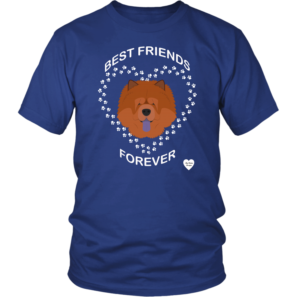 Chow Chow Best Friends Forever T-Shirt Royal Blue