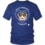 australian shepherd best friends t-shirt royal blue