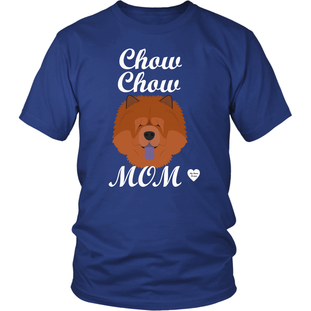 chow chow mom t-shirt royal blue