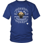 I Love My Bullmastiff T-Shirt Royal Blue