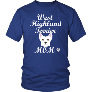 west highland terrier t-shirt royal blue