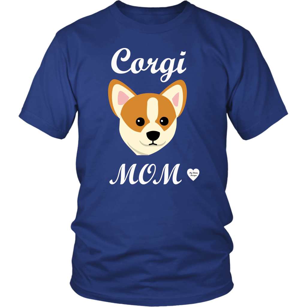 corgi mom royal blue t-shirt