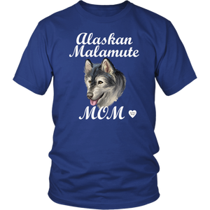 Alaskan Malamute Mom T-Shirt Royal Blue