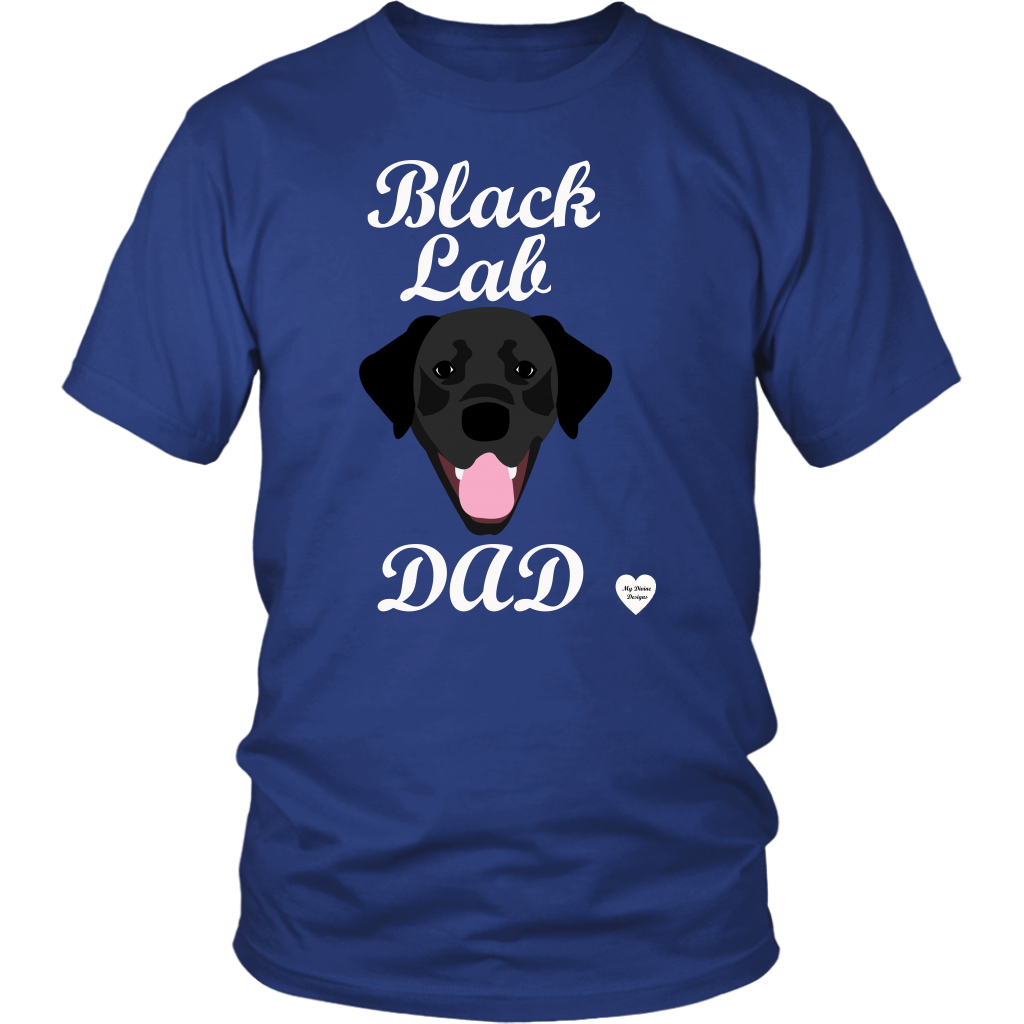 Black Lab Dad Shirt