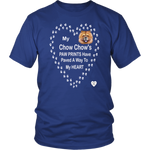 My Chow Chow's Paw Prints - Tan - T-Shirt Royal Blue