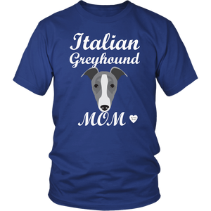 italian greyhound mom royal blue t-shirt