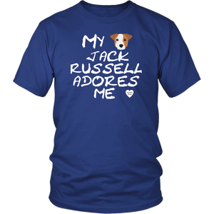 Jack Russell Adores Me T-Shirt Royal Blue