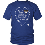 Boxers Paw Prints To My Heart T-Shirt