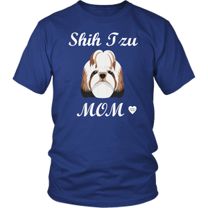 shih tzu mom t-shirt royal blue