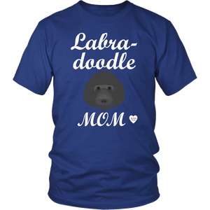 labradoodle mom t-shirt royal blue