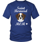 saint bernard mom t-shirt royal blue