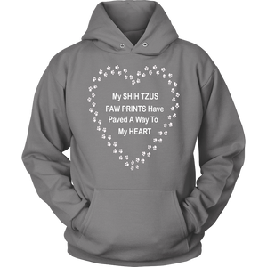 Shih Tzu Paw Prints To My Heart Hoodie
