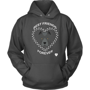 Pit Bull Best Friends Forever Hoodie Charcoal
