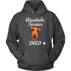 airedale terrier dad hoodie charcoal