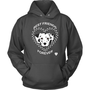Dalmatian Best Friends Forever Hoodie Charcoal