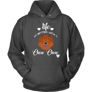 Life Is Better With A Chow Chow Hoodie Charcoal