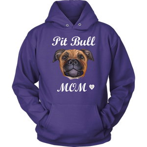 Pit Bull Mom Tan Hoodie Purple