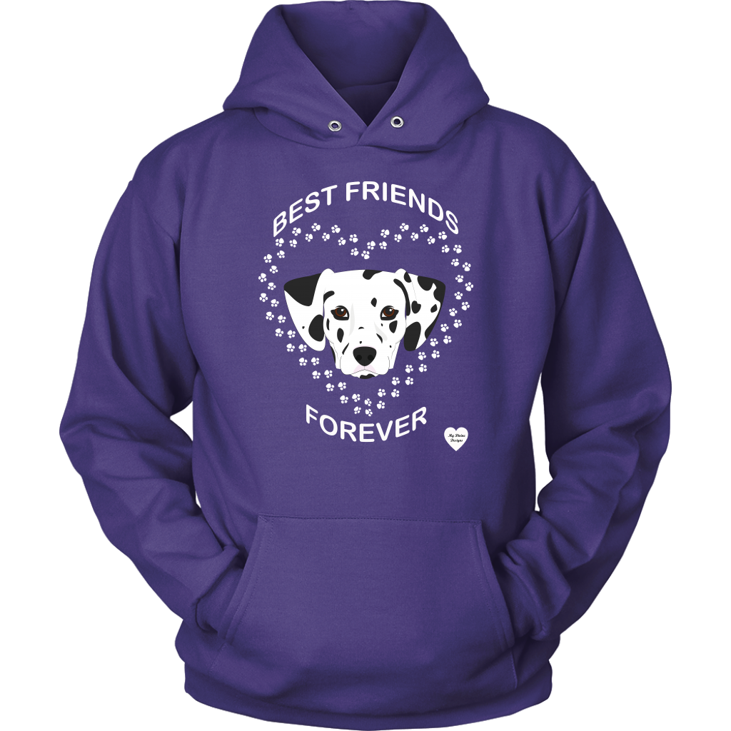Dalmatian Best Friends Forever Hoodie Purple