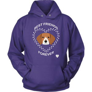 Beagle Best Friends Forever Hoodie Purple