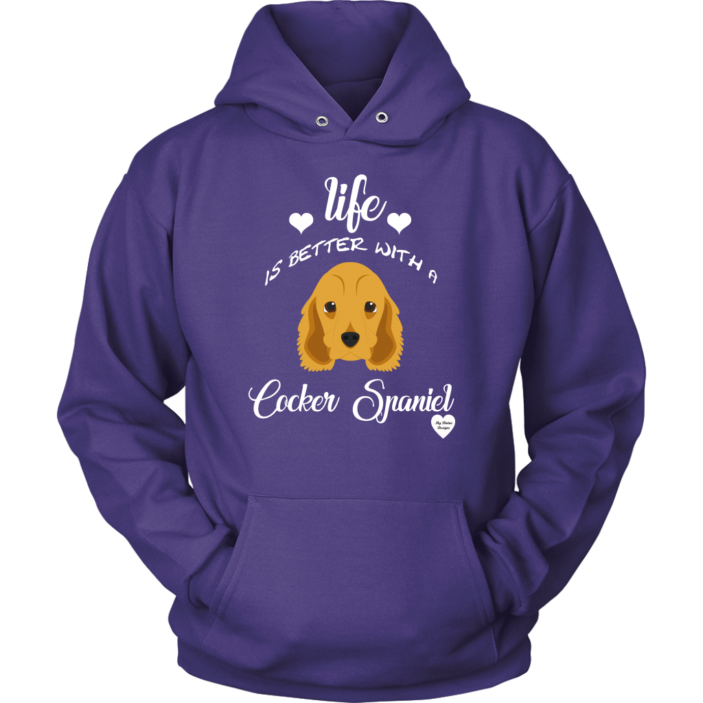 Life Is Better With A Cocker Spaniel Hoodie Purple