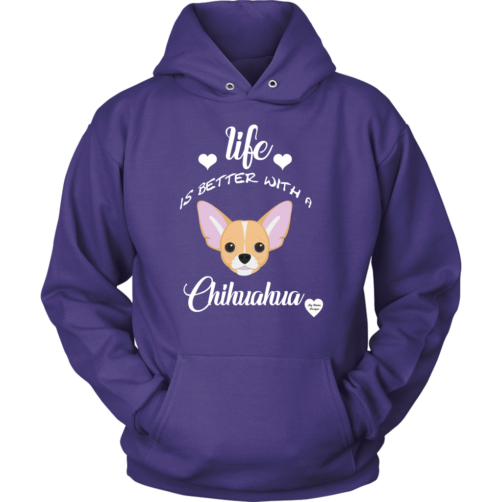Life Is Better With A Chihuahua Hoodie Purple