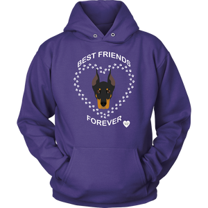 Doberman Best Friends Forever Hoodie Purple