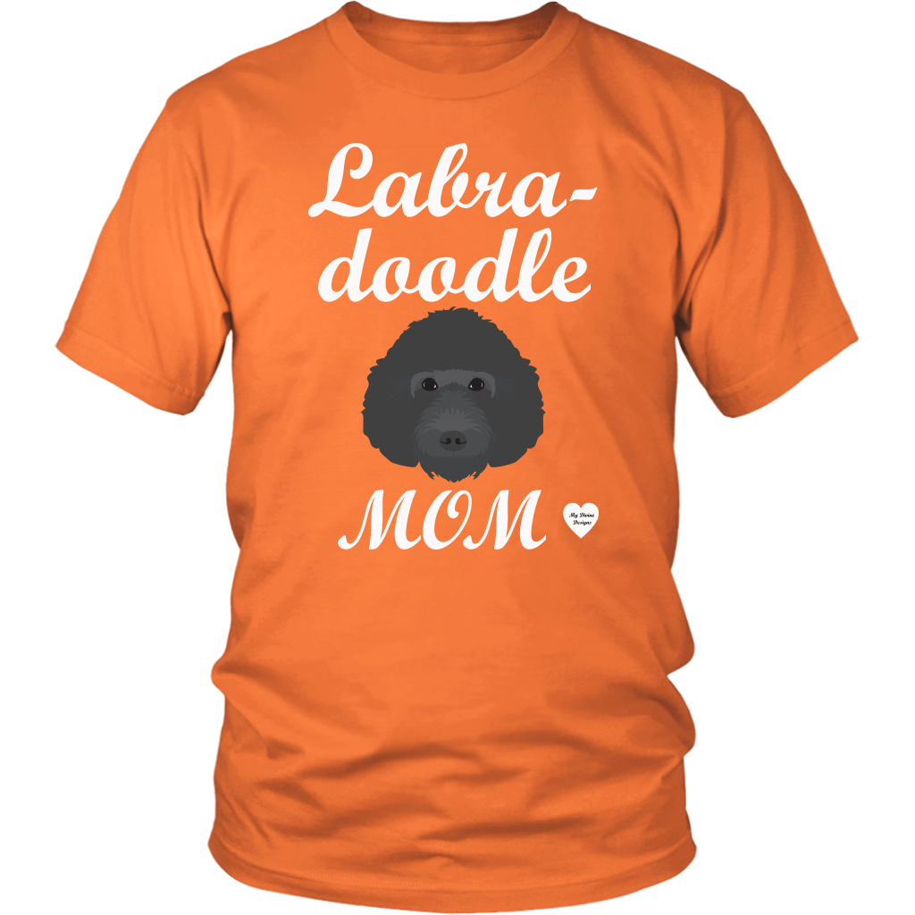 labradoodle mom t-shirt orange