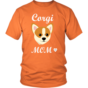 corgi mom orange t-shirt