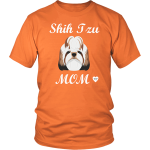 shih tzu mom t-shirt orange