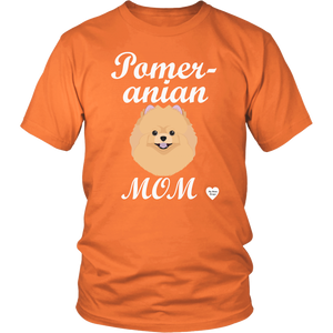 pomeranian mom t-shirt orange