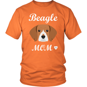 beagle mom t-shirt orange