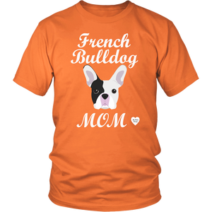 french bulldog mom orange t-shirt