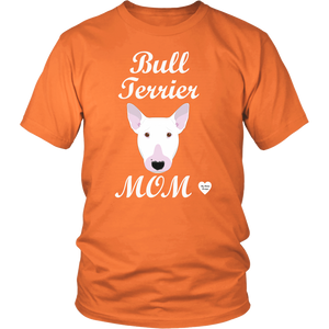 bull terrier mom orange t-shirt