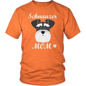 Schnauzer Mom orange t-shirt
