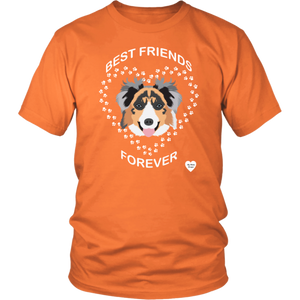 australian shepherd best friends t-shirt orange