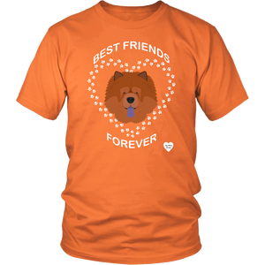 Chow Chow Best Friends Forever T-Shirt Orange