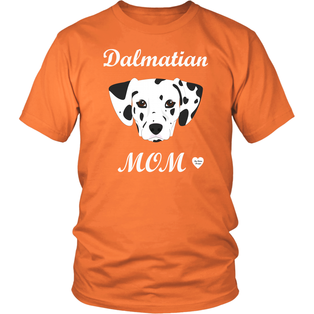 dalmatian mom t-shirt orange