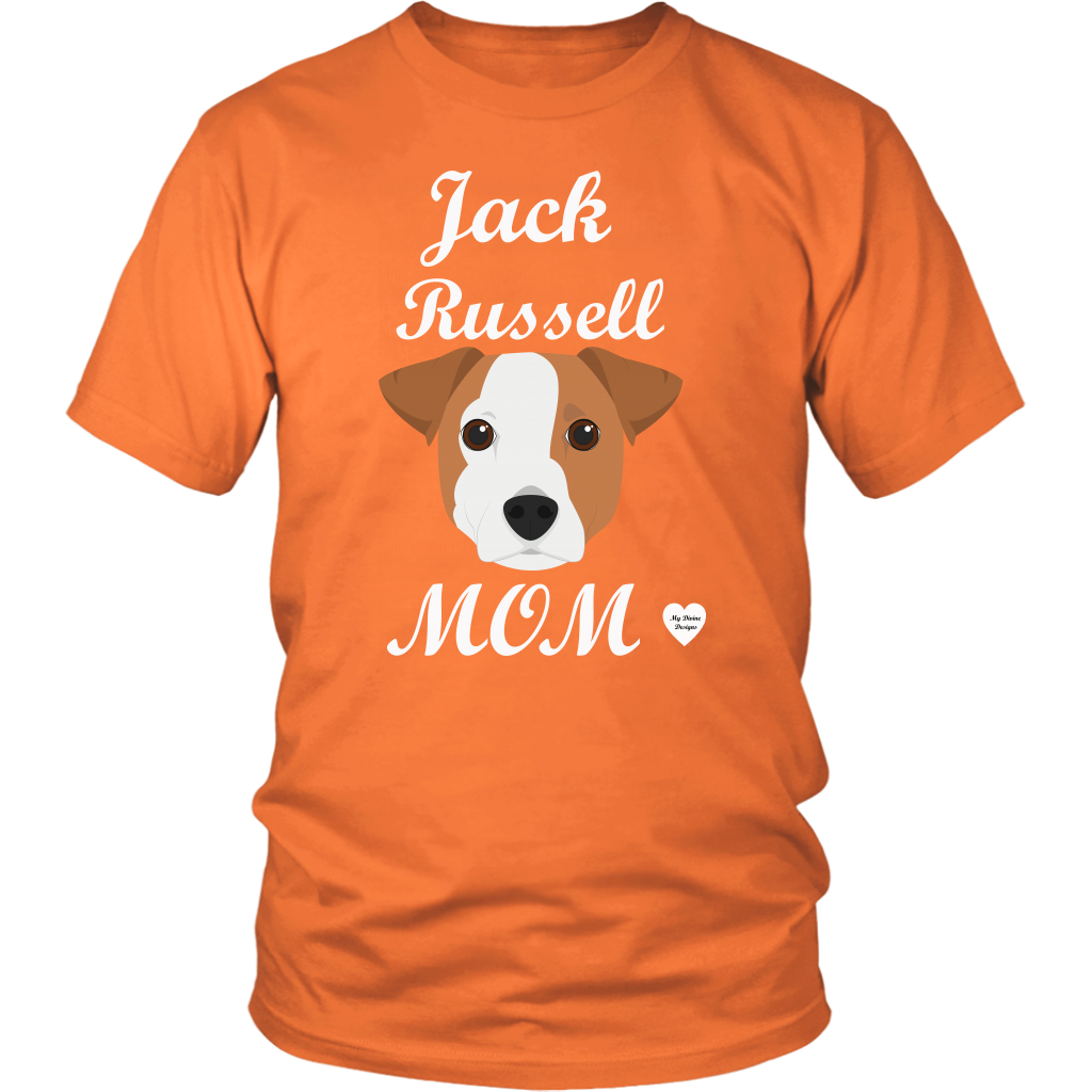 jack russell mom t-shirt orange