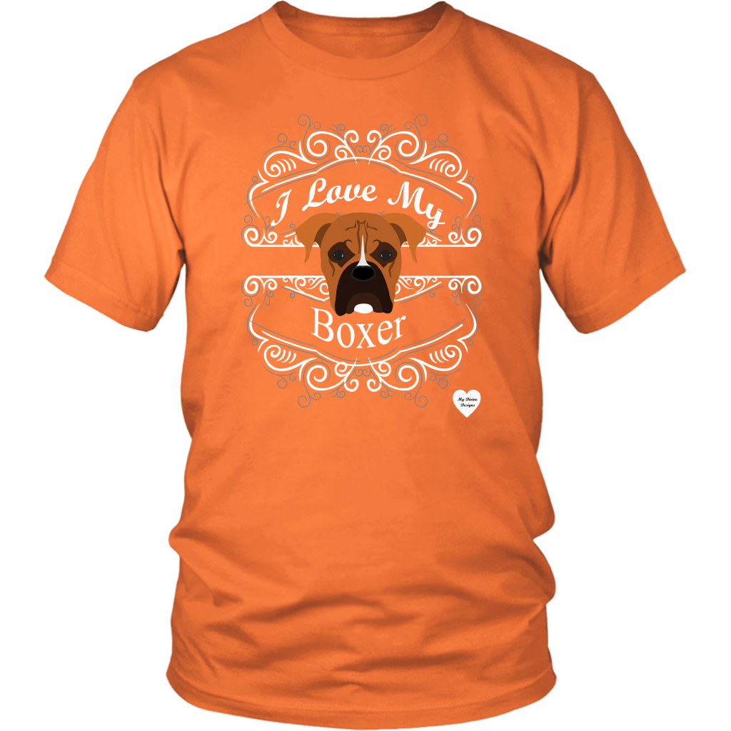 I Love My Boxer T-Shirt Orange