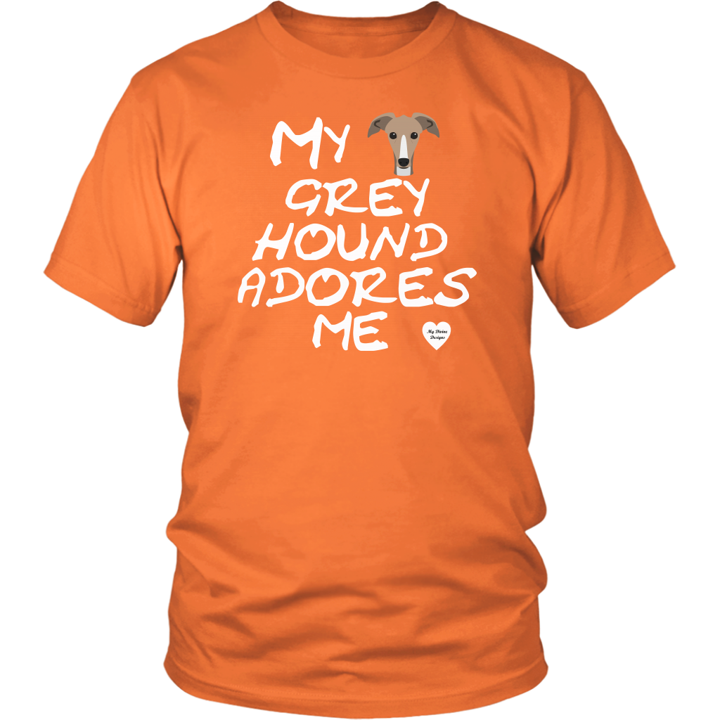 Greyhound Adores Me T-Shirt Neon Orange