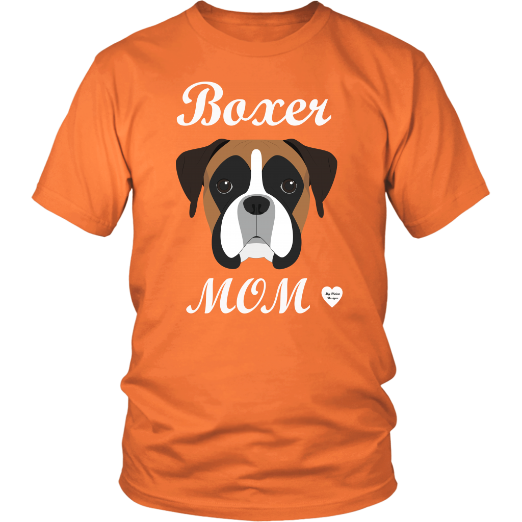 boxer mom orange t-shirt