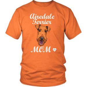 airedale terrier mom t-shirt orange