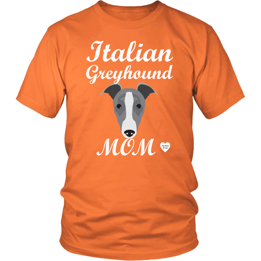 italian greyhound mom orange t-shirt