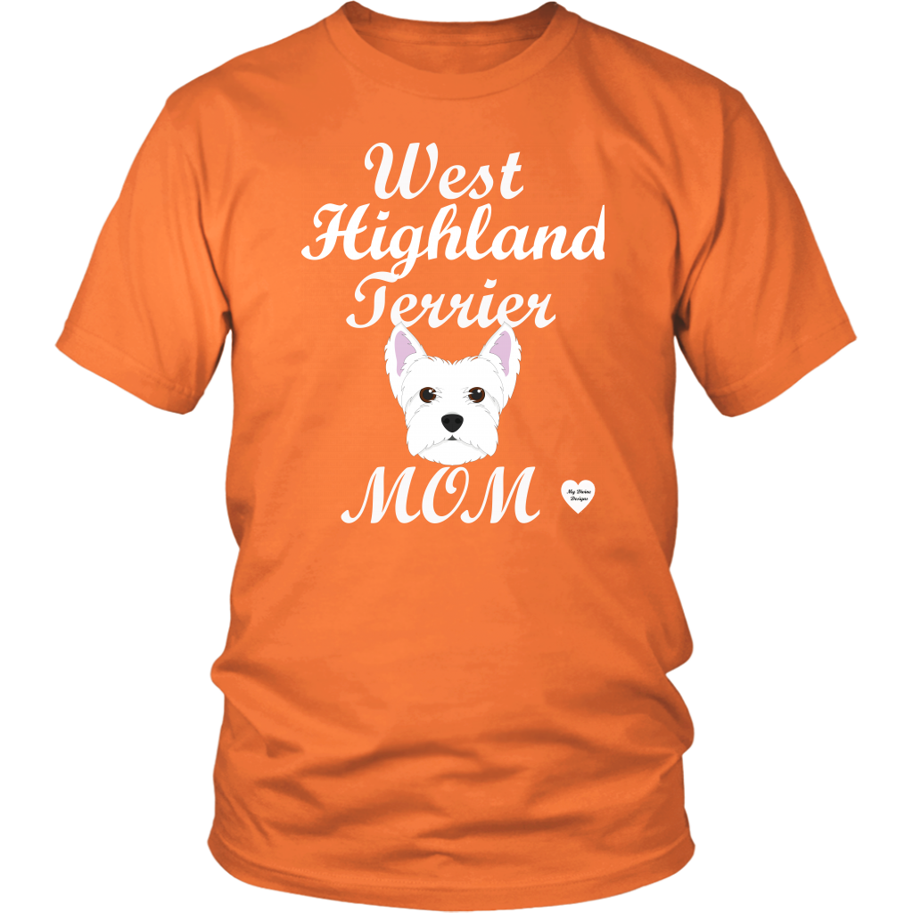 west highland terrier t-shirt orange