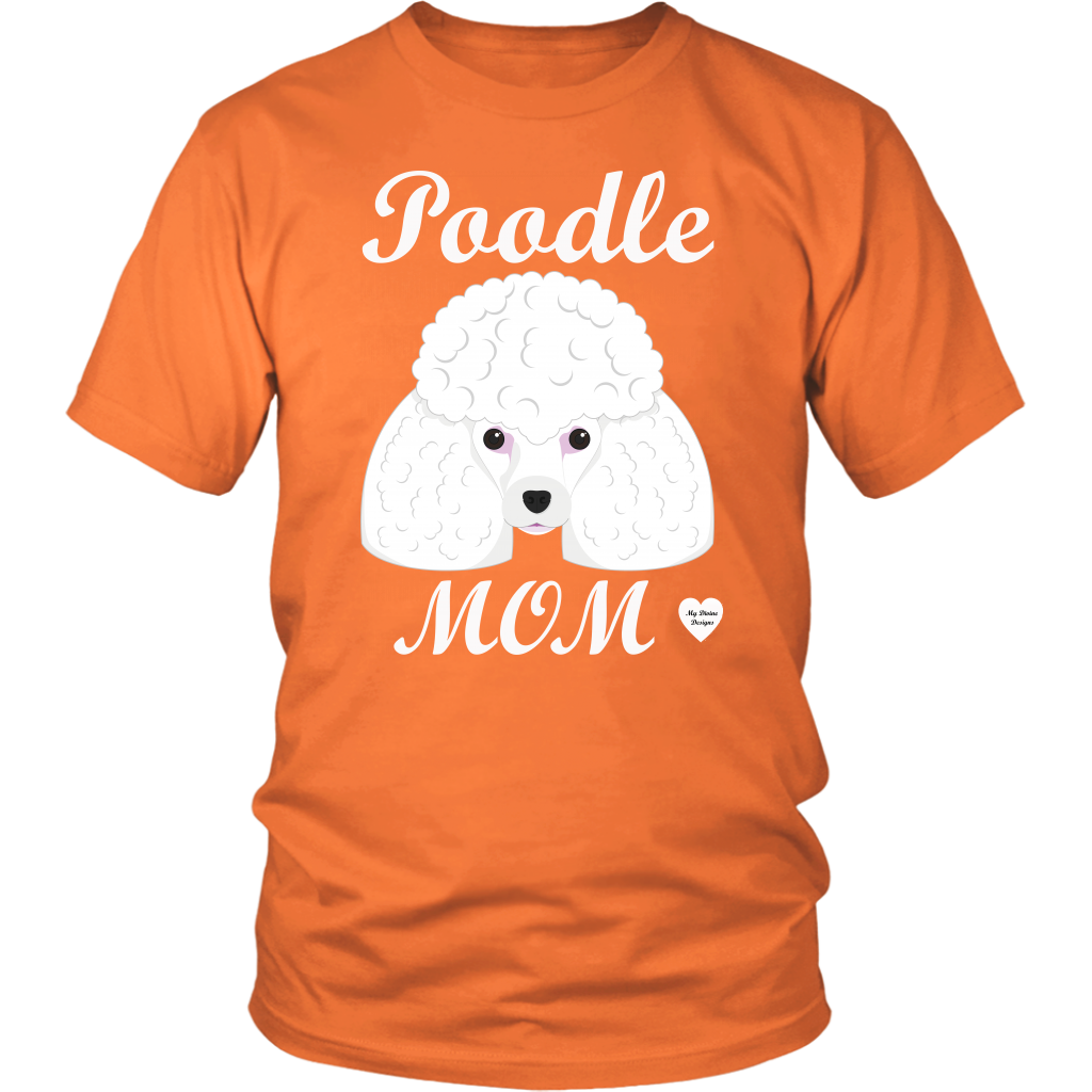 Poodle Mom orange t-shirt