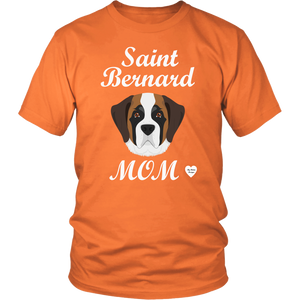 saint bernard mom t-shirt orange