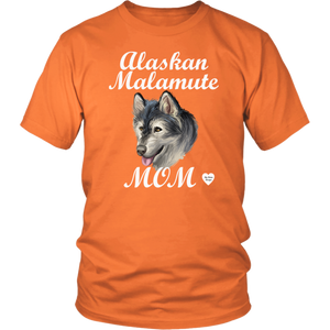 Alaskan Malamute Mom T-Shirt Orange