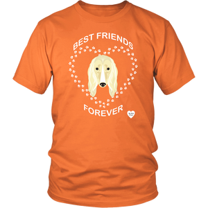 Afghan Hound Best Friends Forever T-Shirt Orange