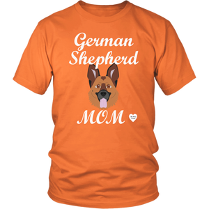 german shepherd mom t-shirt orange